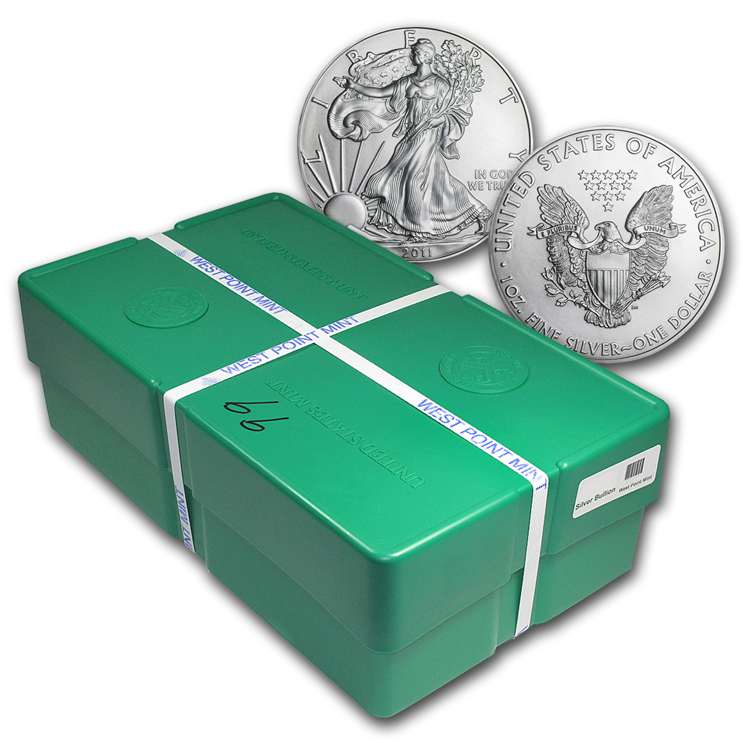 2011 500-Coin Silver Eagle Monster Box (WP Mint, Sealed, FS)